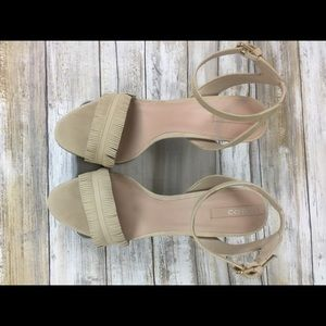 ALDO Cream Suede Fringed Sandals Size 8